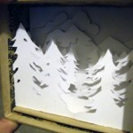Winter Forest Mountains Diorama