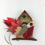 Thrift Design| Small Bird House| Fabric & Paper Samples| £18| Lucy Wray