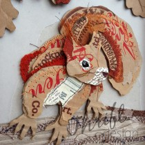 Curious Red Squirrel - Up-cycled Paper & Mixed Media
