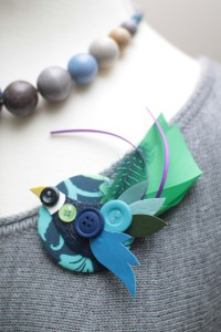 Blue Bird Brooch 1000