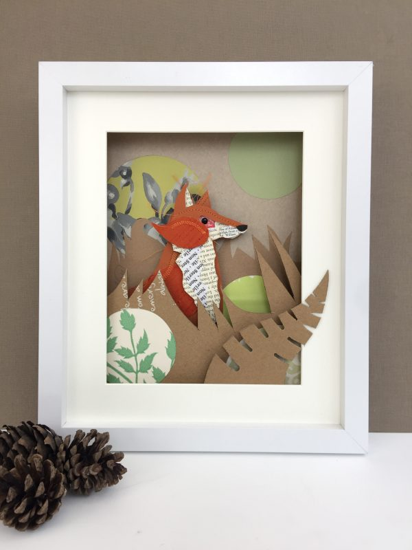 Fox Art Box Frame